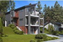 Architectural House Design - Contemporary Exterior - Other Elevation Plan #1066-71