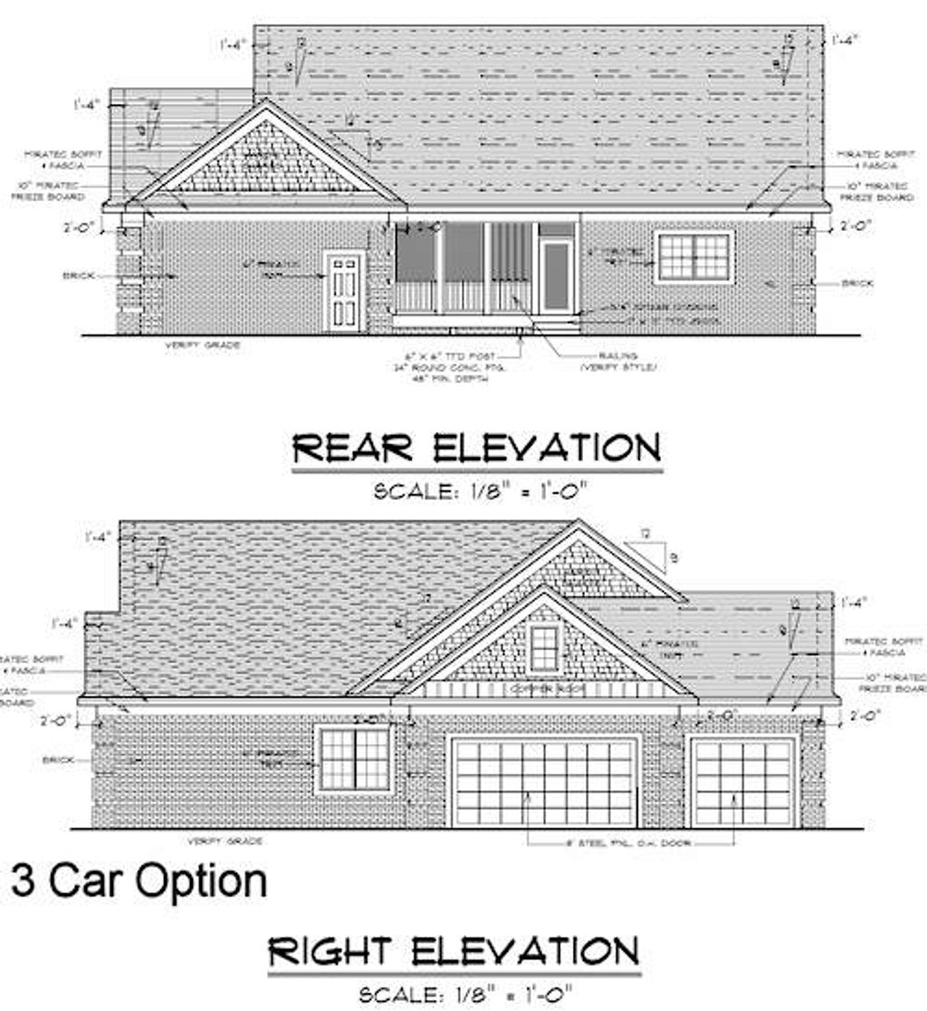 Traditional style house plan 3 beds 2 baths 1792 sq ft for Plan 51