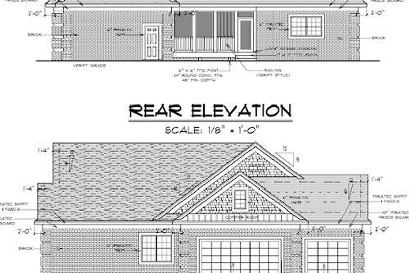 Traditional Exterior - Other Elevation Plan #51-347 - Houseplans.com