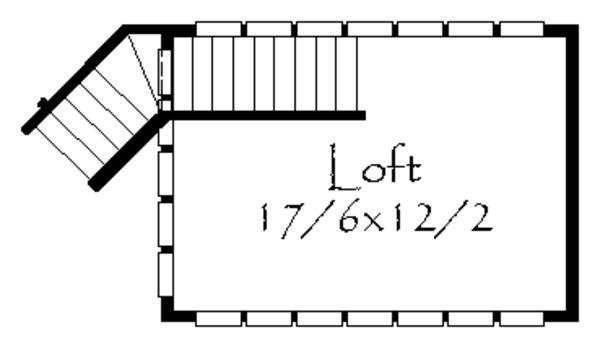 Prairie Floor Plan - Upper Floor Plan Plan #509-43