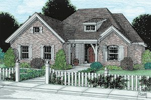 House Design - Traditional Exterior - Front Elevation Plan #20-118