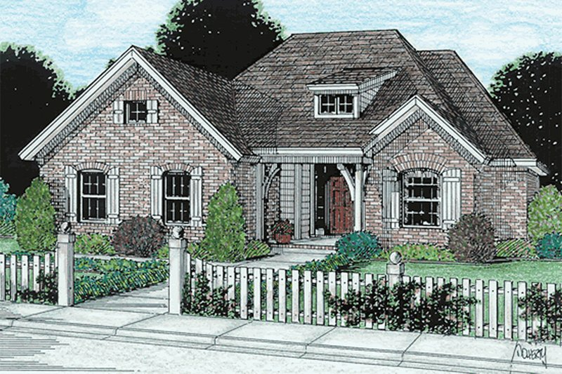 Traditional Exterior - Front Elevation Plan #20-118