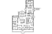 Southern Floor Plan - Main Floor Plan Plan #44-154