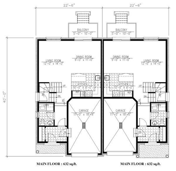 Traditional Floor Plan - Main Floor Plan Plan #138-348
