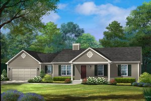 Ranch Exterior - Front Elevation Plan #22-622