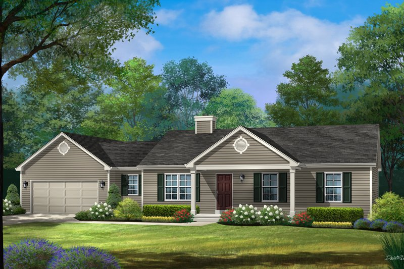 Home Plan - Ranch Exterior - Front Elevation Plan #22-622