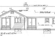 Ranch Style House Plan - 3 Beds 2 Baths 1489 Sq/Ft Plan #47-250 Exterior - Rear Elevation