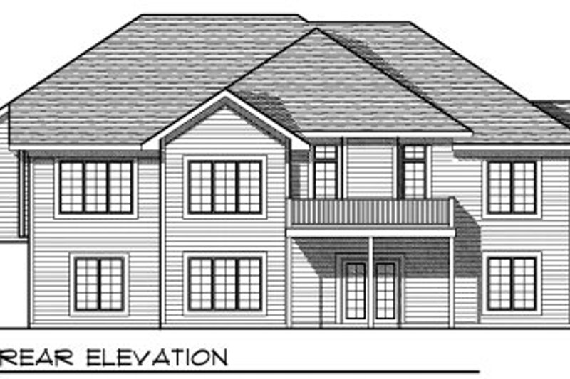 Traditional Exterior - Rear Elevation Plan #70-819 - Houseplans.com