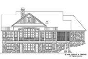 European Style House Plan - 4 Beds 4 Baths 2401 Sq/Ft Plan #929-4 Exterior - Rear Elevation
