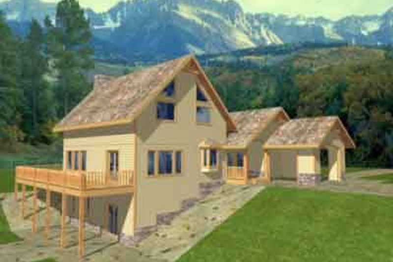 Traditional Exterior - Front Elevation Plan #117-220 - Houseplans.com