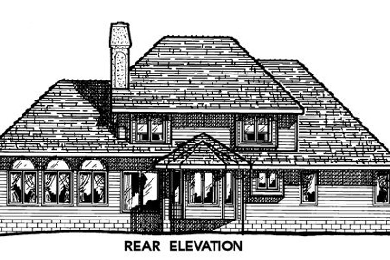 Traditional Exterior - Rear Elevation Plan #20-288 - Houseplans.com