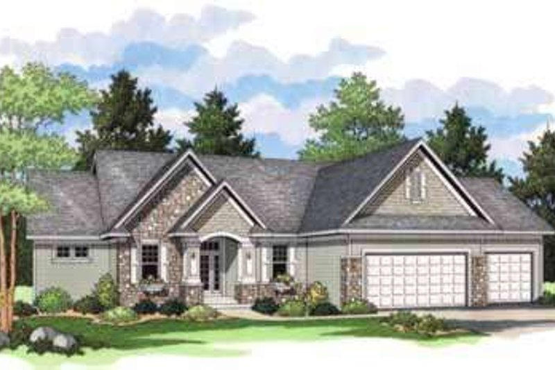 Country Exterior - Front Elevation Plan #51-207 - Houseplans.com