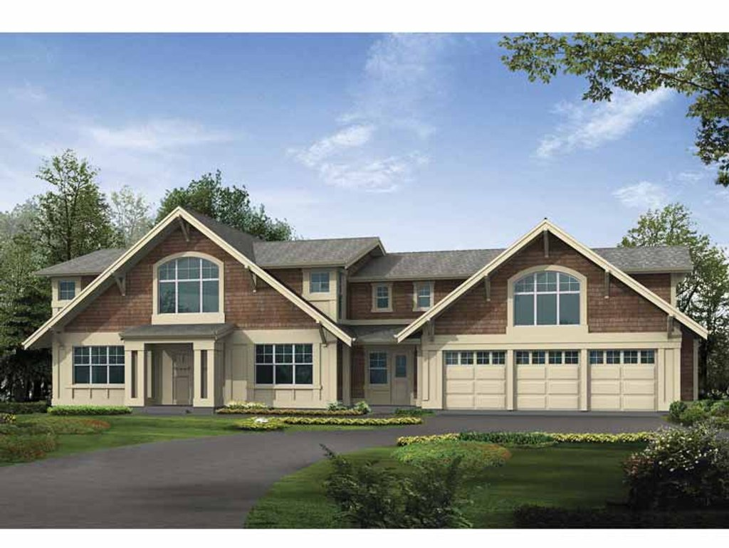 Craftsman style house plan 5 beds 4 baths 4487 sq ft for 5 bedroom craftsman house plans