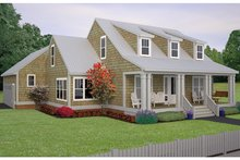 Home Plan - Colonial Exterior - Front Elevation Plan #991-26