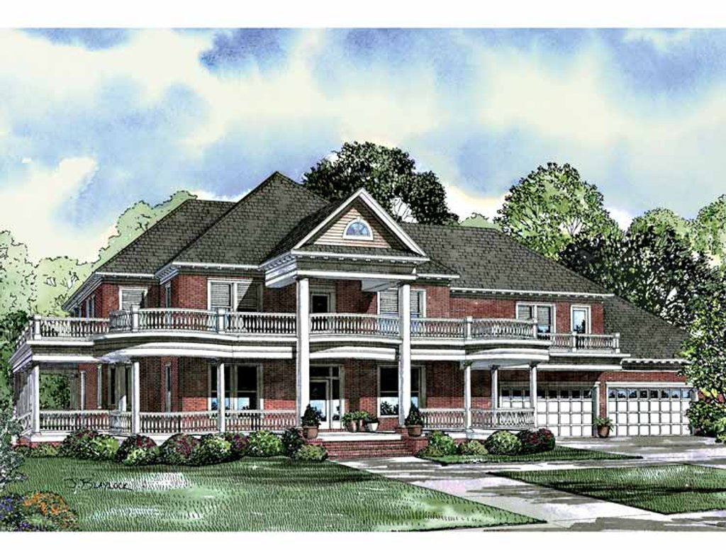 Southern style house plan 6 beds 5 baths 7870 sq ft plan for Southern style home plans