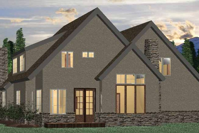 European Exterior - Rear Elevation Plan #937-4 - Houseplans.com