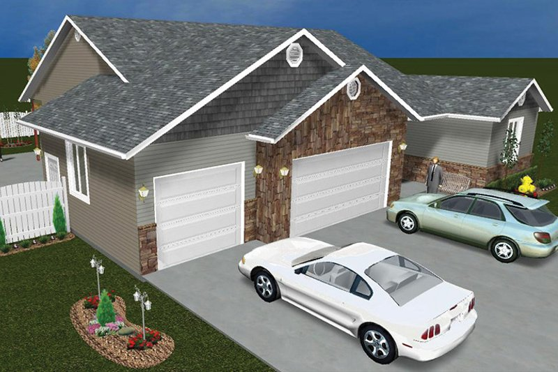 Ranch Exterior - Other Elevation Plan #1060-12 - Houseplans.com