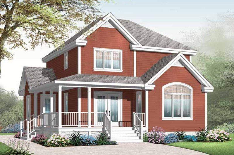 Dream House Plan - Country Exterior - Front Elevation Plan #23-2551