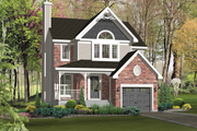 Country Style House Plan - 3 Beds 1 Baths 1571 Sq/Ft Plan #25-4868 Exterior - Front Elevation