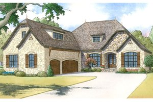 Dream House Plan - European Exterior - Front Elevation Plan #17-3398