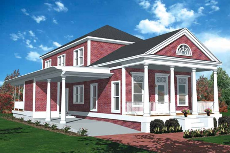 Classical Exterior - Front Elevation Plan #406-9644