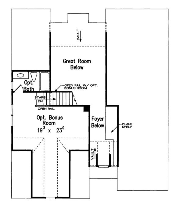 Traditional Floor Plan - Upper Floor Plan Plan #927-35