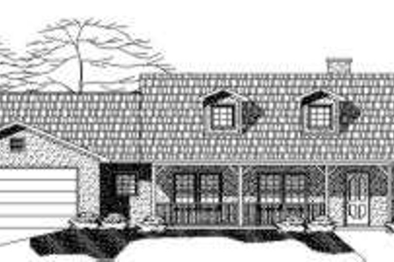 Country Style House Plan - 3 Beds 2.5 Baths 2141 Sq/Ft Plan #24-219 Exterior - Front Elevation