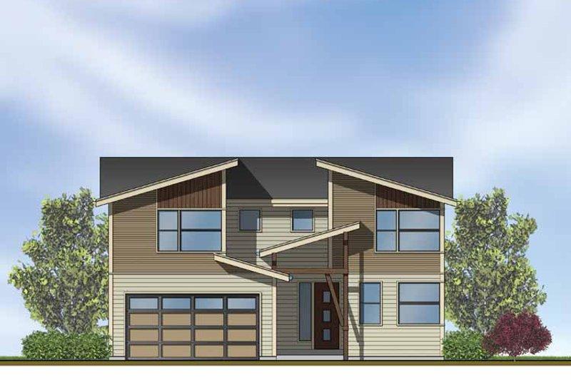 Contemporary Exterior - Front Elevation Plan #569-11 - Houseplans.com