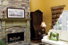 Architectural House Design - Country Interior - Family Room Plan #929-502