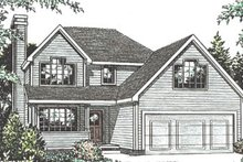 Home Plan - Traditional Exterior - Front Elevation Plan #20-2027