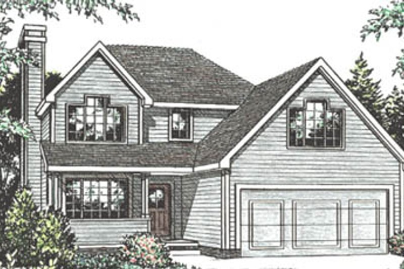 Traditional Exterior - Front Elevation Plan #20-2027 - Houseplans.com