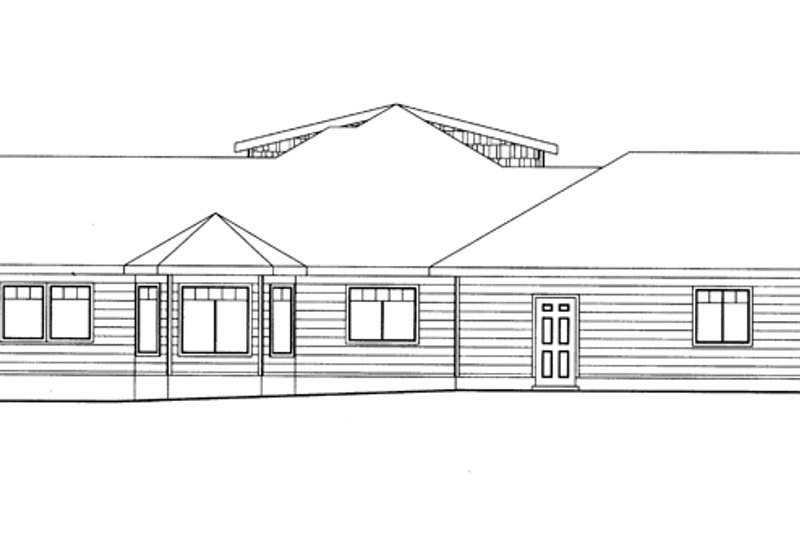Ranch Exterior - Other Elevation Plan #117-851 - Houseplans.com