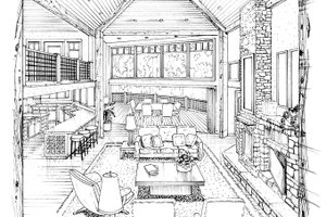 Architectural House Design - Craftsman Interior - Family Room Plan #942-11