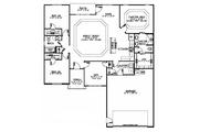 Ranch Style House Plan - 3 Beds 2 Baths 1683 Sq/Ft Plan #1064-5 Floor Plan - Main Floor