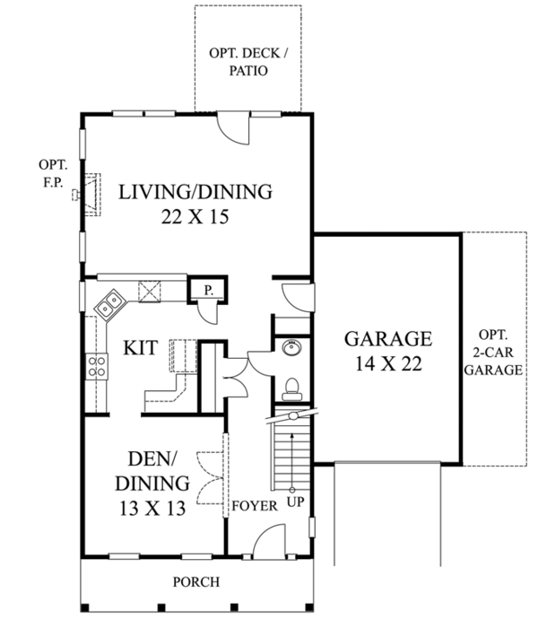 Classical Floor Plan - Main Floor Plan Plan #1053-47