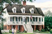 Colonial Style House Plan - 3 Beds 2.5 Baths 2152 Sq/Ft Plan #137-373 Exterior - Front Elevation
