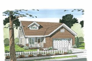 Craftsman Exterior - Front Elevation Plan #513-2105