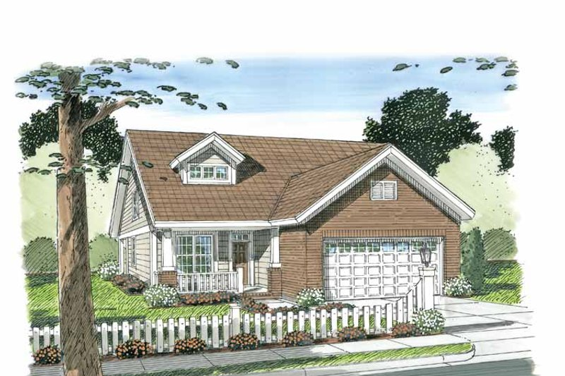 Home Plan - Craftsman Exterior - Front Elevation Plan #513-2105