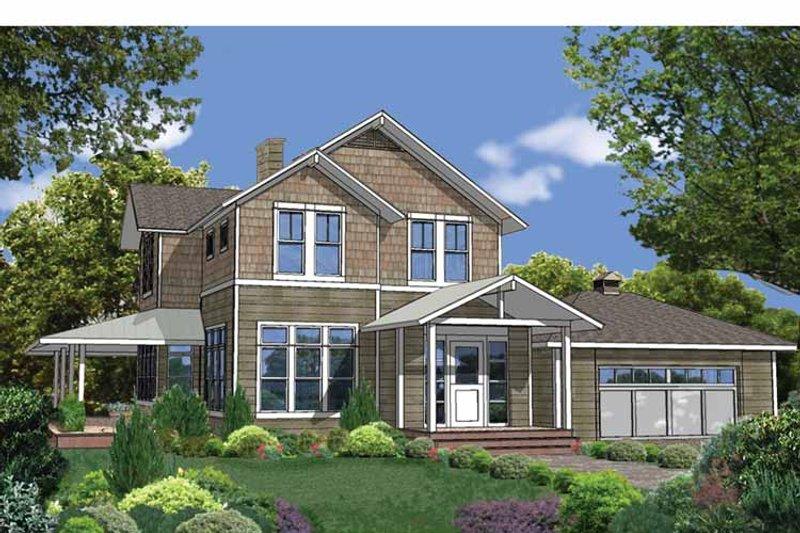 Craftsman Exterior - Front Elevation Plan #1042-6 - Houseplans.com