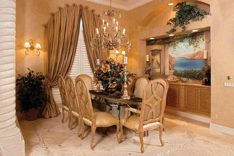 Mediterranean Interior - Dining Room Plan #1017-2 - Houseplans.com