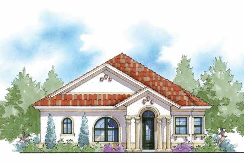 Mediterranean Exterior - Front Elevation Plan #938-27