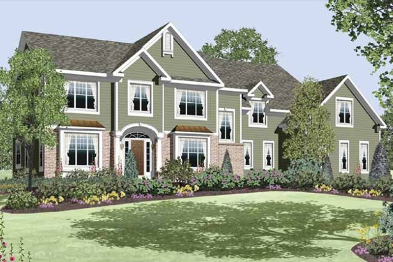 Traditional Exterior - Front Elevation Plan #328-458 - Houseplans.com