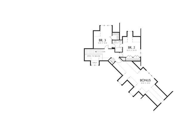 Upper Floor Plan - 2900 square foot Craftsman Home