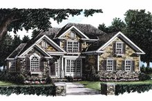 Country Exterior - Front Elevation Plan #927-623