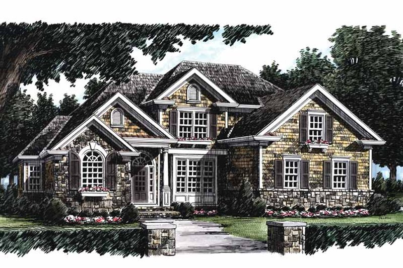 Country Exterior - Front Elevation Plan #927-623 - Houseplans.com