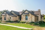European Style House Plan - 4 Beds 3 Baths 2930 Sq/Ft Plan #80-177 Exterior - Other Elevation