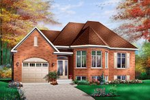 European Exterior - Front Elevation Plan #23-366