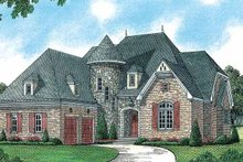 Architectural House Design - European Exterior - Front Elevation Plan #453-176