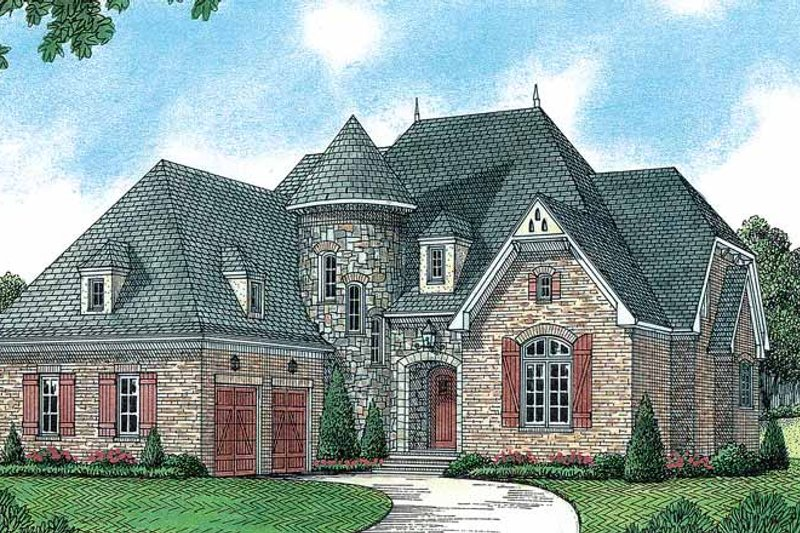 Dream House Plan - European Exterior - Front Elevation Plan #453-176