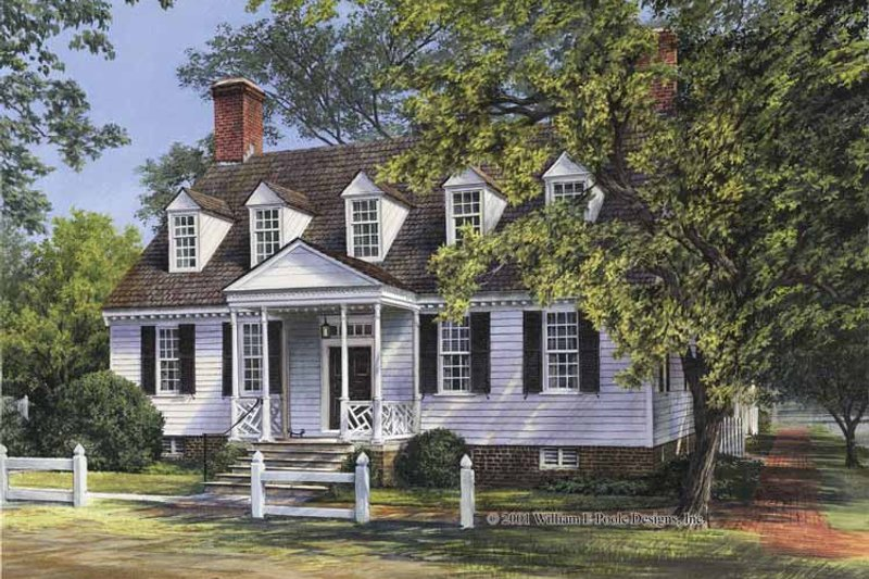 Architectural House Design - Colonial Exterior - Front Elevation Plan #137-355